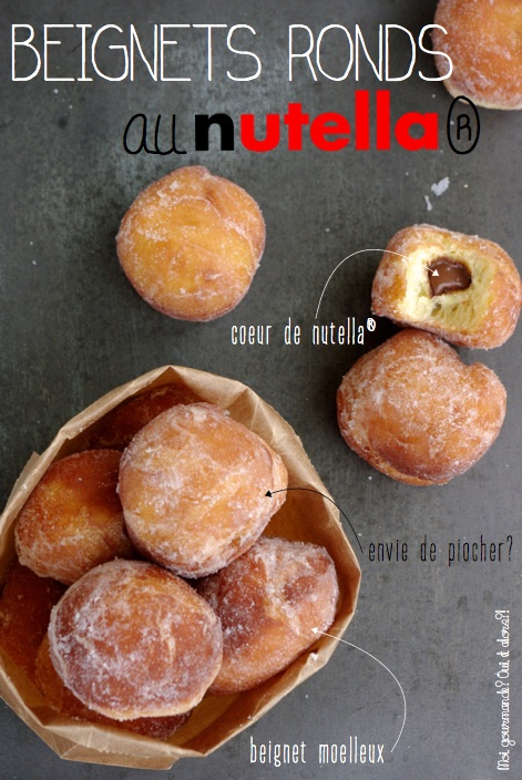 BEIGNETS RONDS AU NUTELLA®