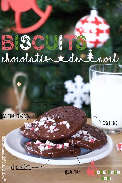 BISCUITS CHOCOLATÉS DE NOËL